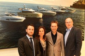 Dědička rodinného jachtařství Azimut Giovanna Vitelli se svým asistentem a dvěma řediteli českého zastoupení.