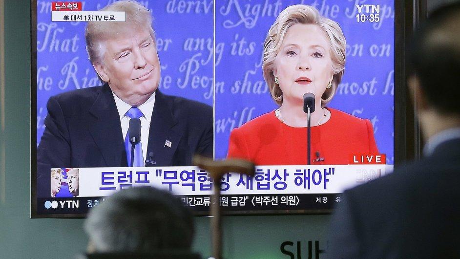 Trump, Clintonová, prezidentská debata.