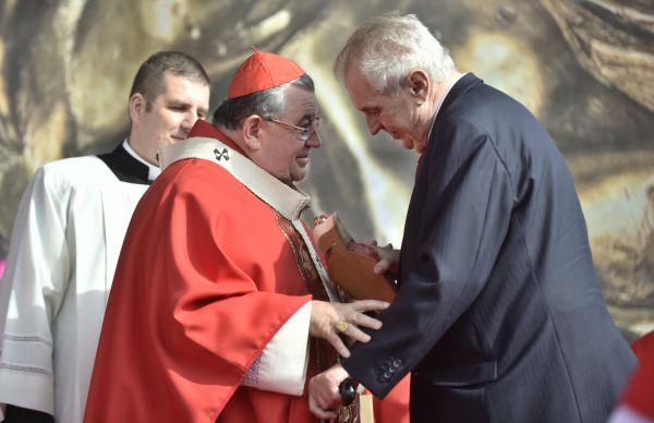 kardinál Dominik Duka, Miloš Zeman, Svatováclavská mše