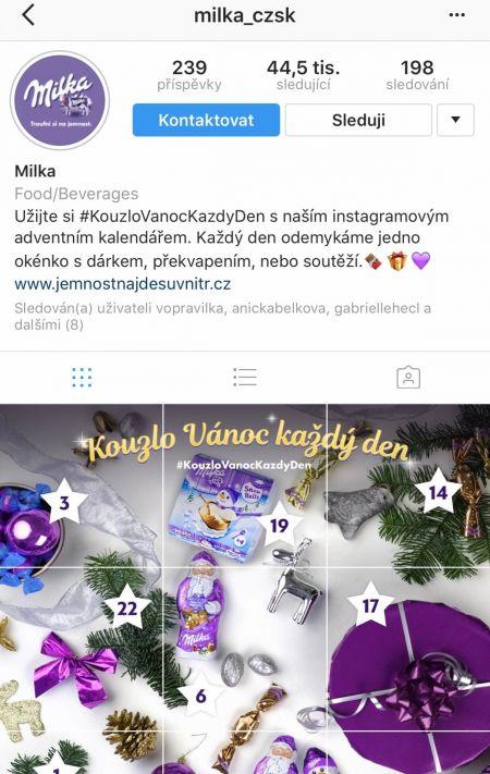 Milka představila na Instagramu adventní kalendář