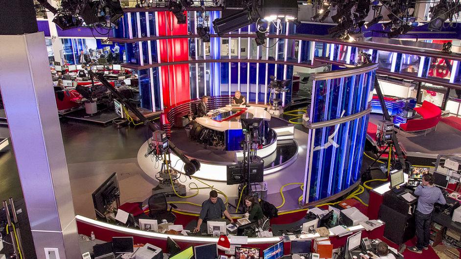 Zákulisí televize Sky News.
