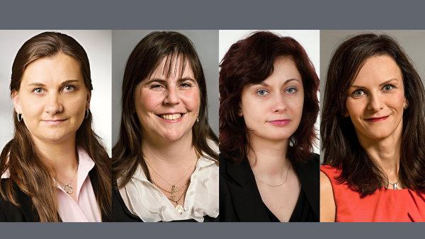 Elena Hrbková, Olga Pekařová, Kateřina Vácová a Kamila Vlhová, realitně poradenská společnost Cushman & Wakefield