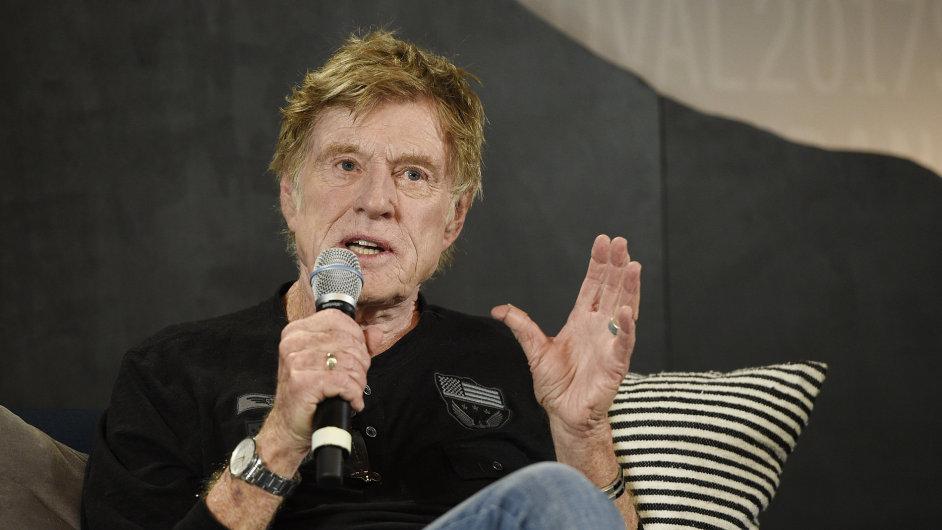 Robert Redford o politice a novinařině hovořil na tiskové konferenci při zahájení festivalu Sundance.