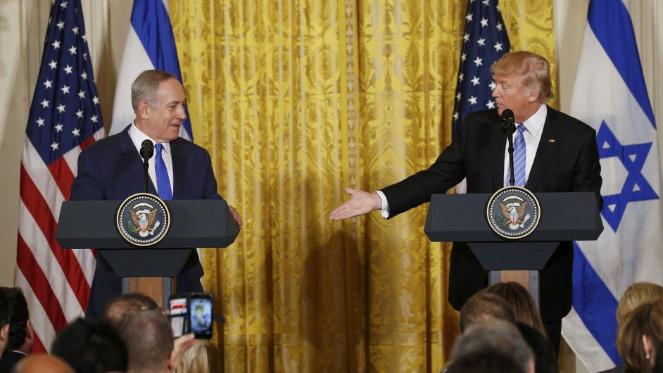 Trump ve sporu Izraele a Palestiny připustil variantu jednoho státu.