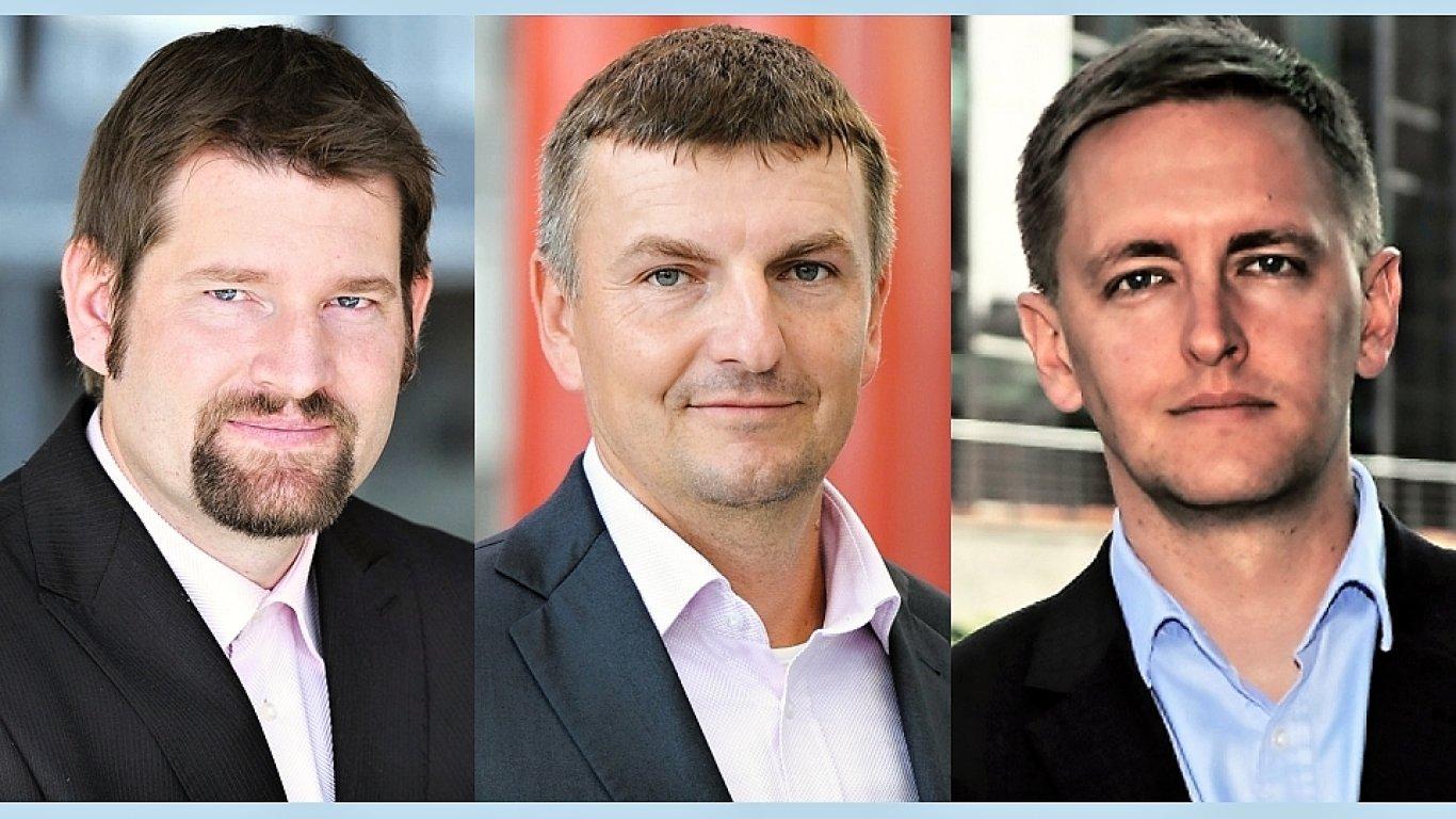 Štěpán Húsek, Milan Kulhánek a Miroslav Linhart, partneři společnosti Deloitte ČR