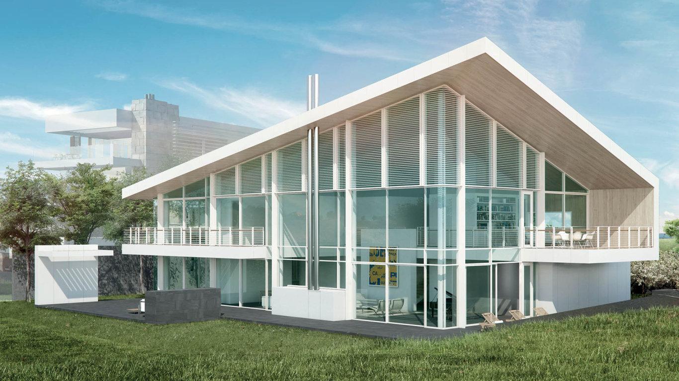 Luxusní rezidence snáznakem sedlové střechy.