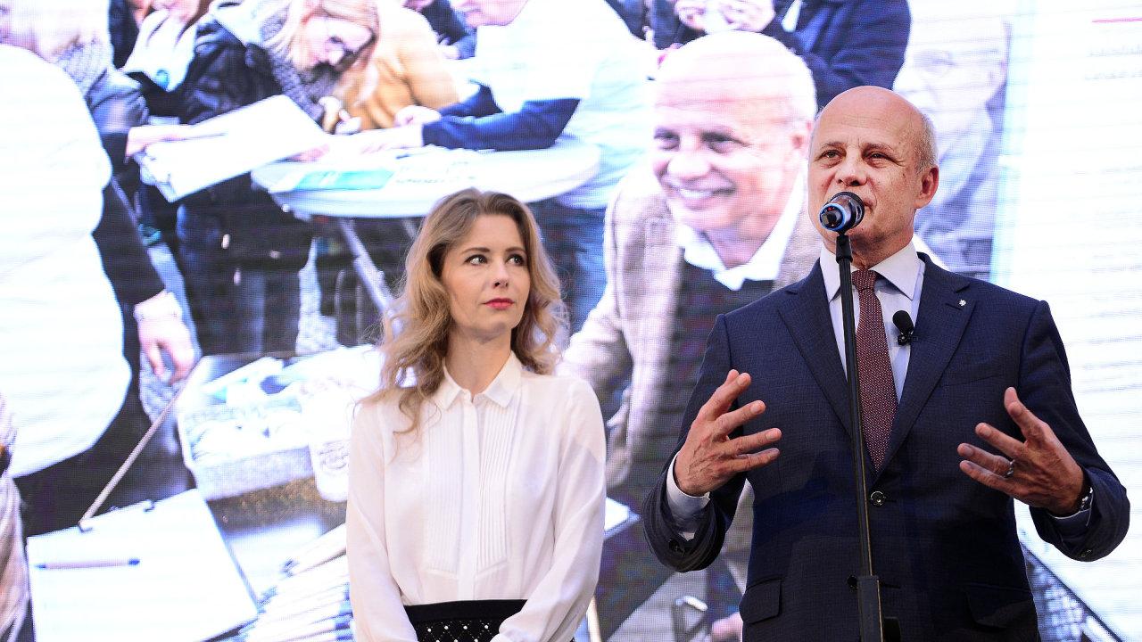 Michal Horáček s manželkou.