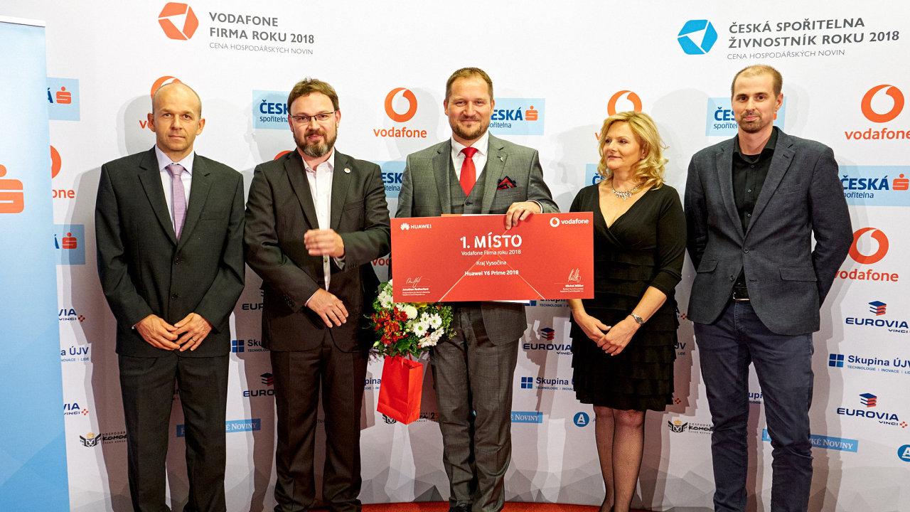 Radek Chládek převzal cenu za první místo.