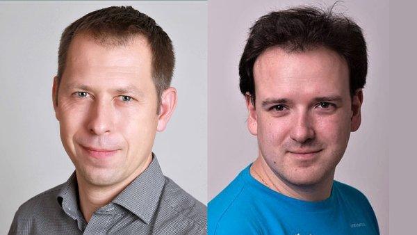 Tomáš Fuňka a Michal Hrušecký, management společnosti CZ.NIC