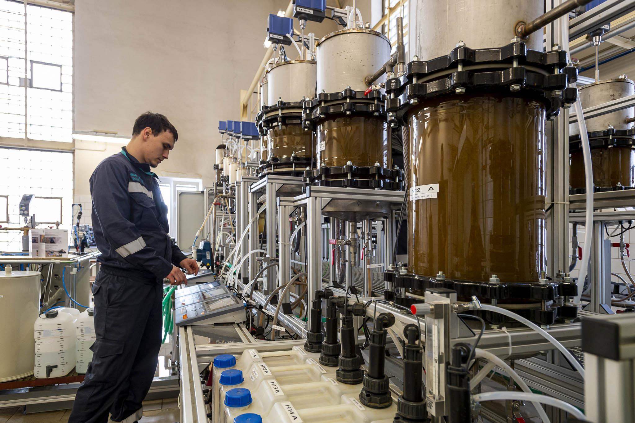 V tréninkovém centru v Litvínově je i model biologické čistírny odpadních vod.