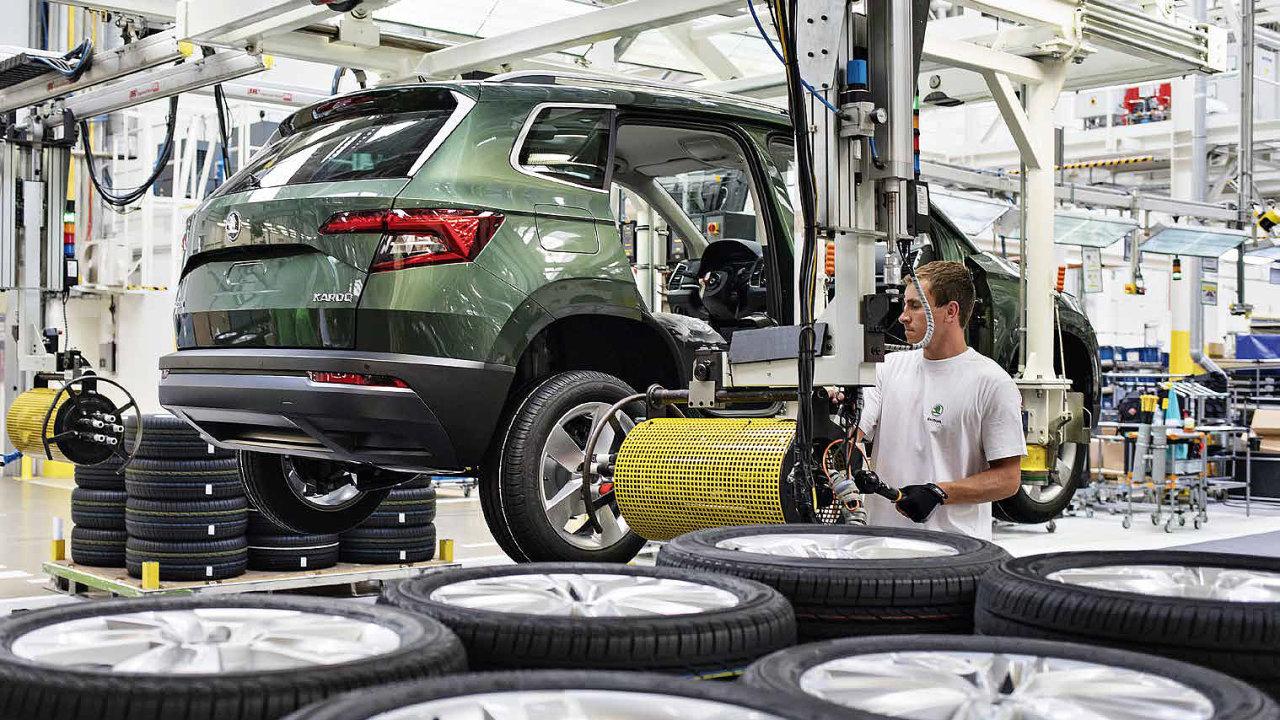Výroba vozu Škoda Karoq