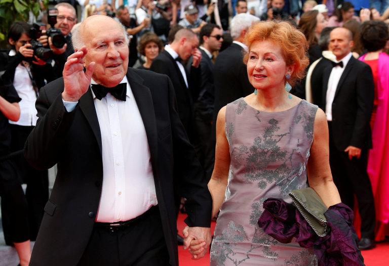 Herec Michel Piccoli s manželkou