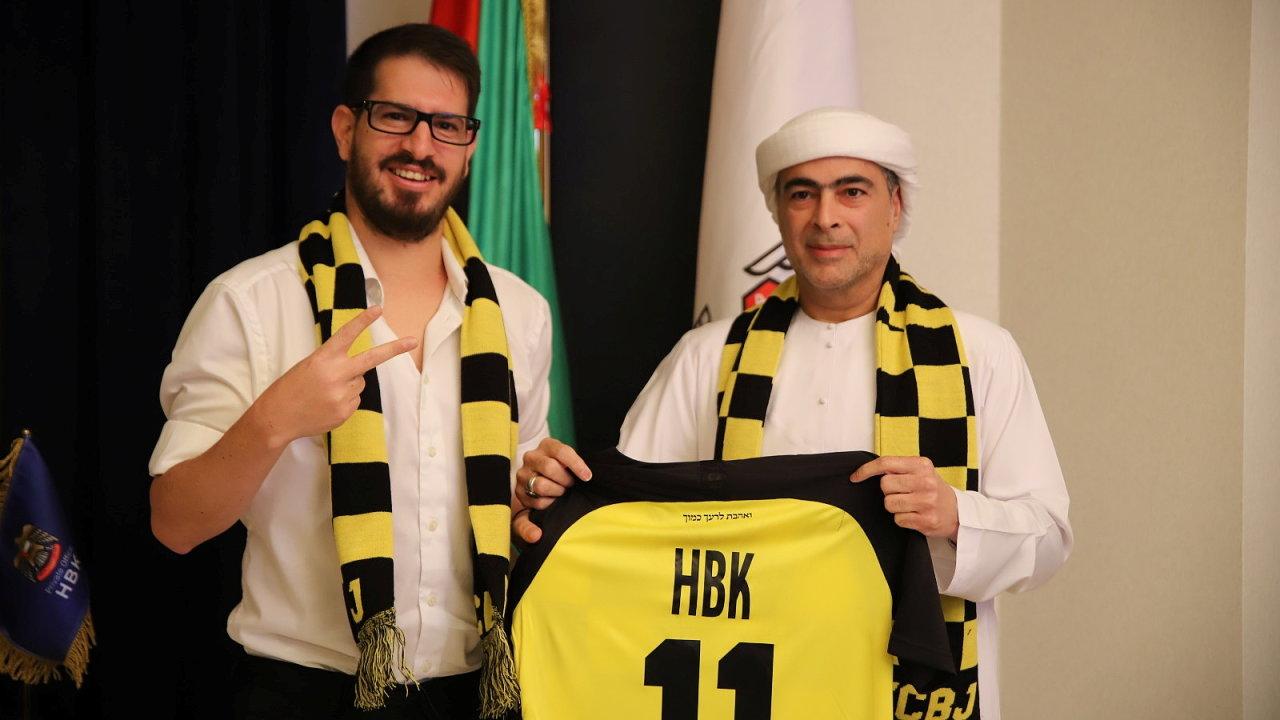 Šajch Hamad bin Chalífa Nahaján po koupi týmu Bejtar Jerusalem.