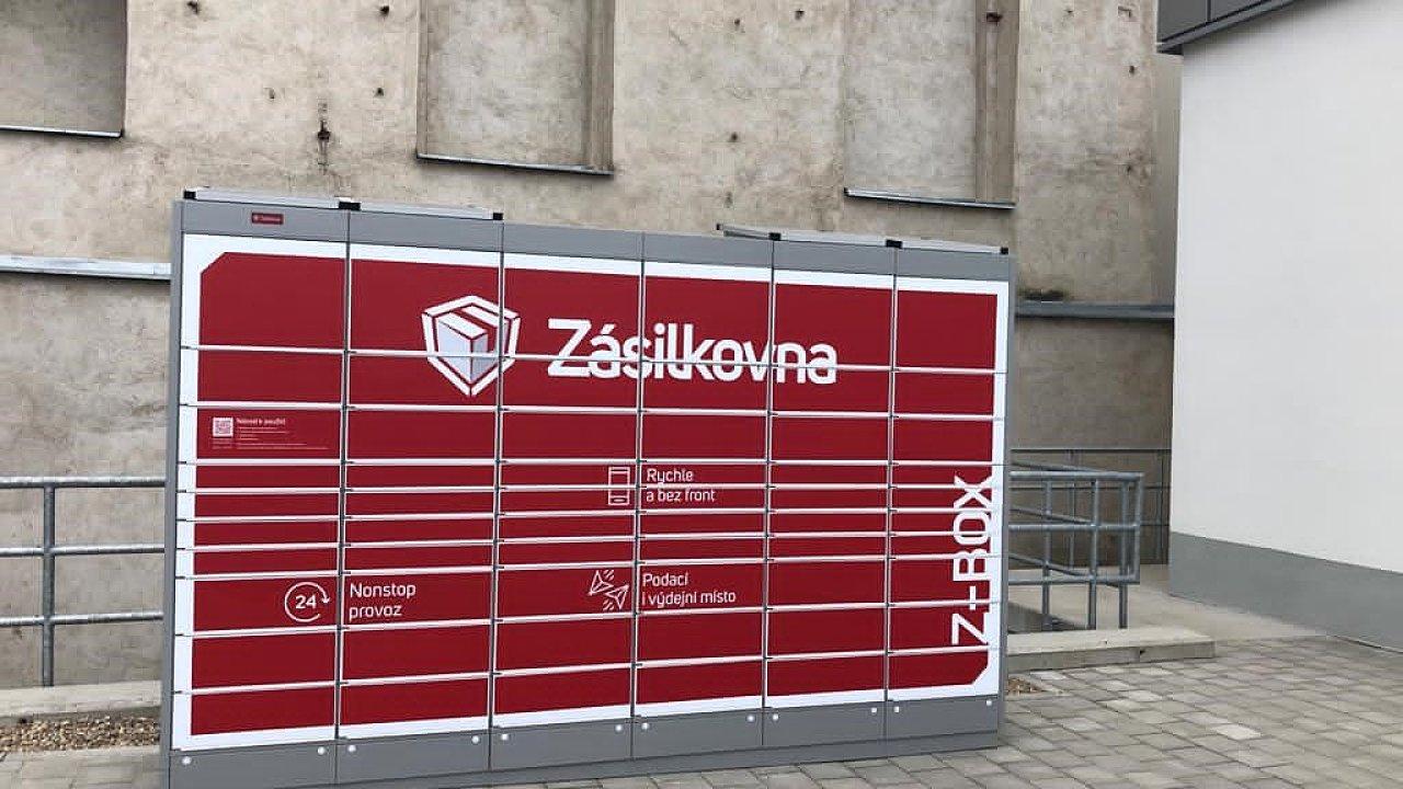 Umístění Z-Boxu u prodejny Lidl ve Slavkově.