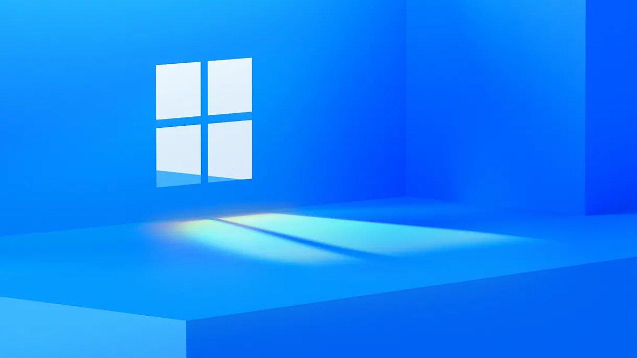 Logo Windows bez části snímku naznačuje číslovku 11.