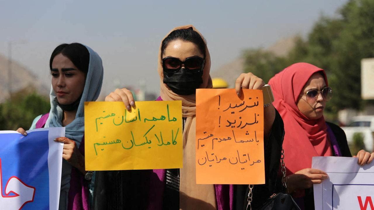 Kábulské ženy demonstrují zarovná práva pro všechny vafghánské společnosti.