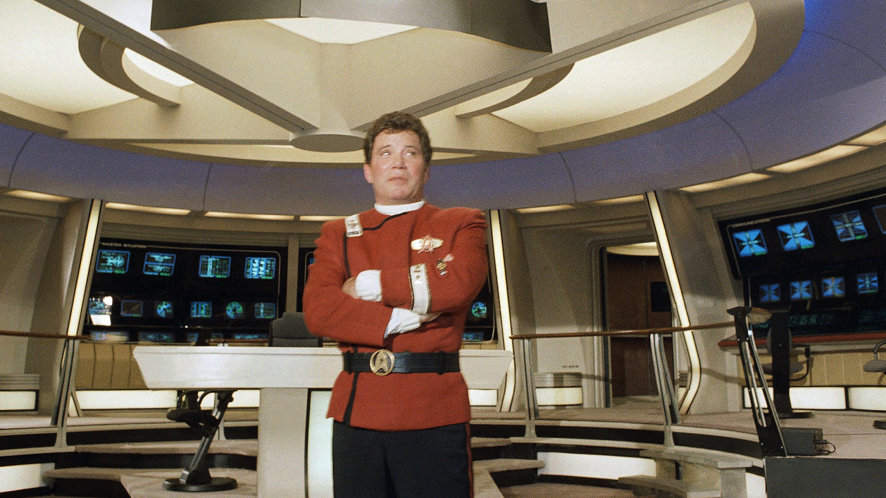 William Shatner alias kapitán Kirk na fotce z roku 1988.