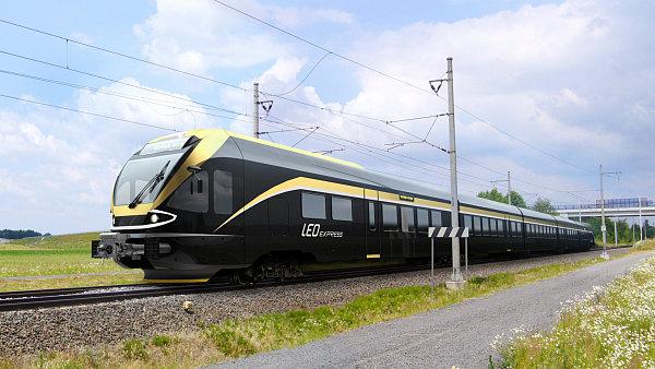 Grafický design vlaků Leo Express