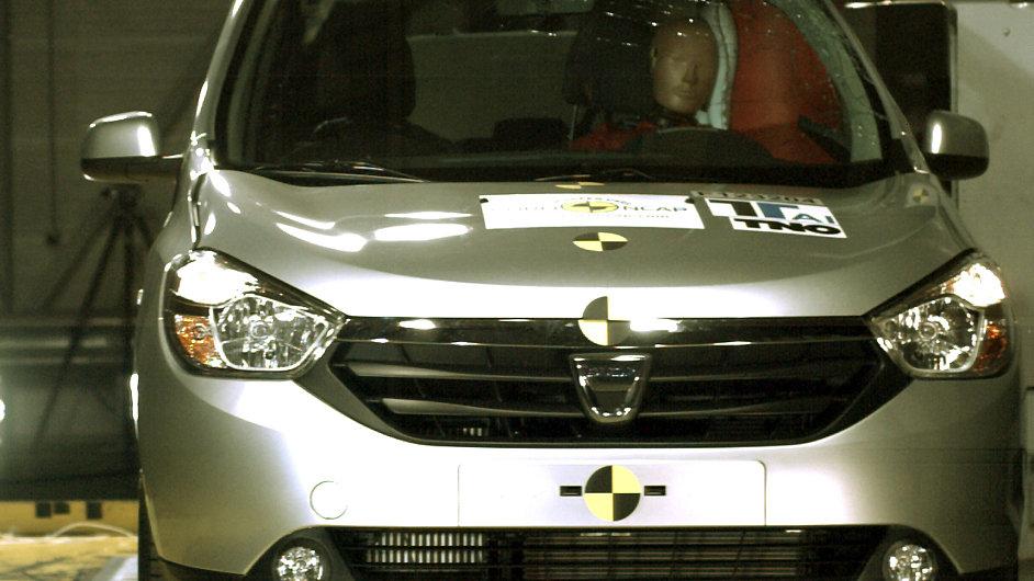 Dacia Logdy při nárazovém testu