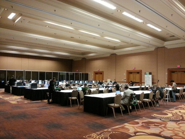 Press Room na veletrhu CES 2013 v hotelu Mandalay Bay