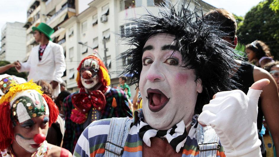 Slavnosti před karnevalem v Riu de Janeiru
