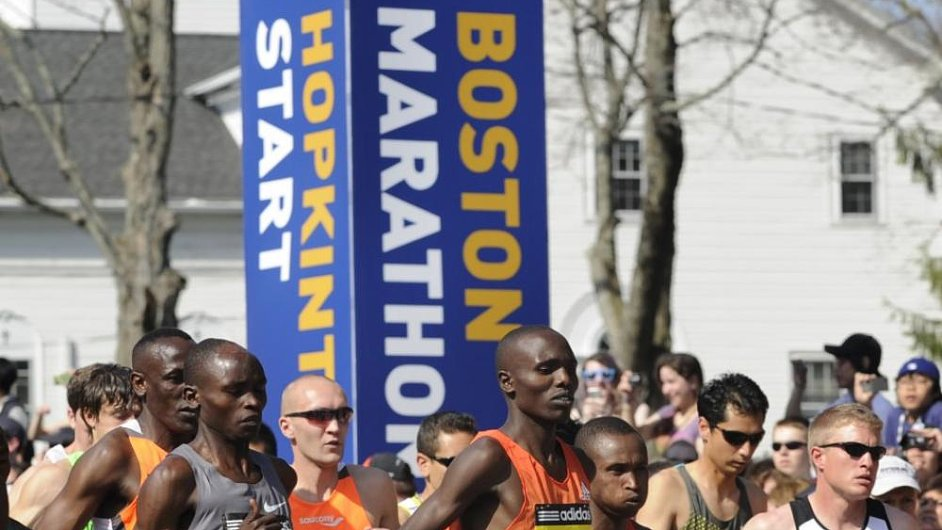 Start Bostonského maratonu 2012