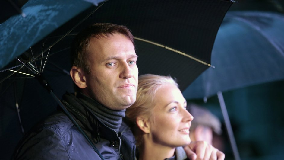 Alexej Navalnyj s manželkou