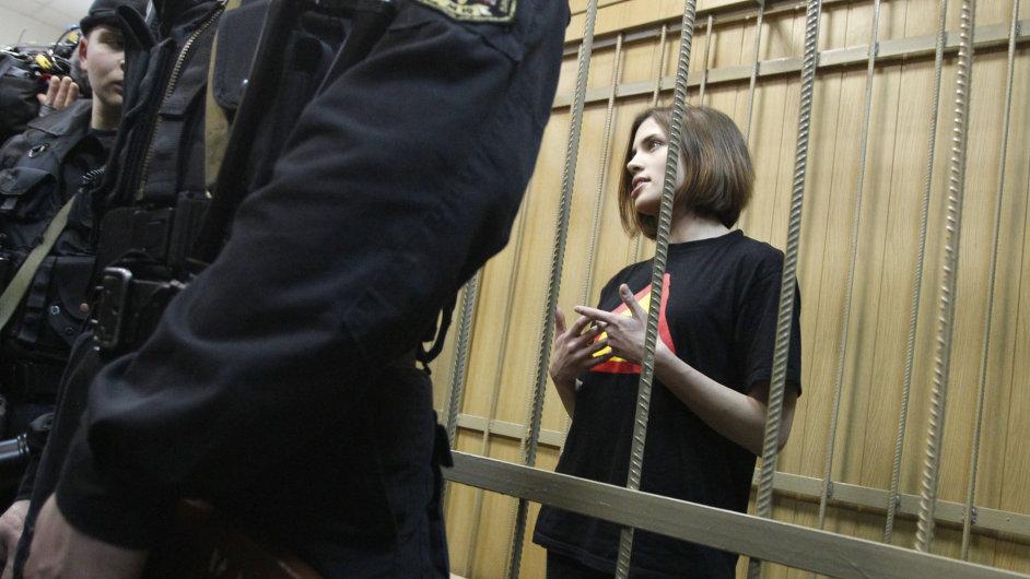 Naděžda Tolokonnikovová, členka kapely Pussy Riot