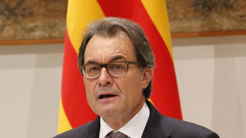 Katalánský předseda vlády Artur Mas