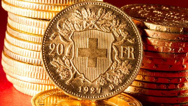 Hodnota zlatých rezerv činila ke konci roku zhruba 39 miliard franků - Ilustrační foto.