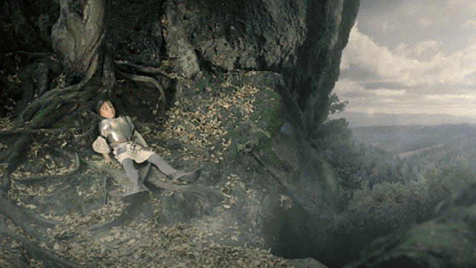Snímek z kamerových zkoušek filmu Křižáček.