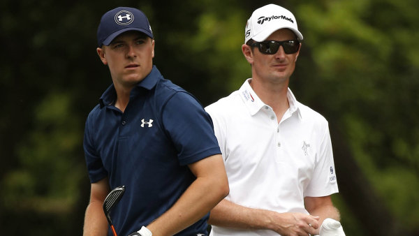 Tv�� zna�ky Under Armour Jordan Spieth.