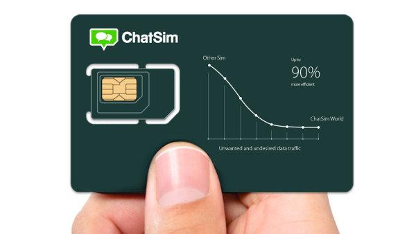 ChatSim nab�z� mo�nost chatovat po cel�m sv�t� za jednotn� poplatek.