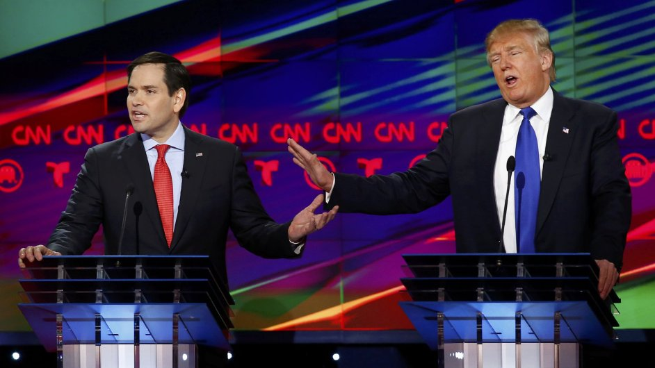 USA, volby, prezident, Trump, Rubio