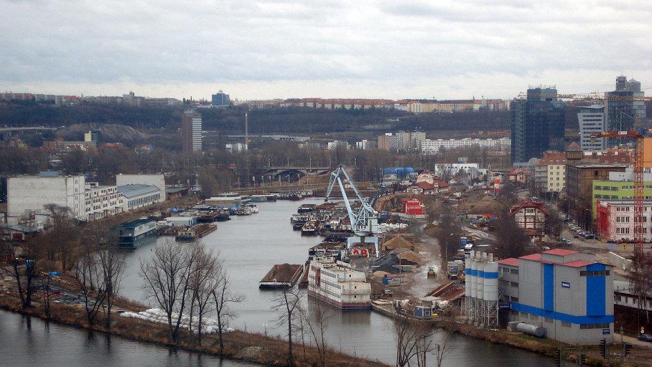 Holešovický přístav.