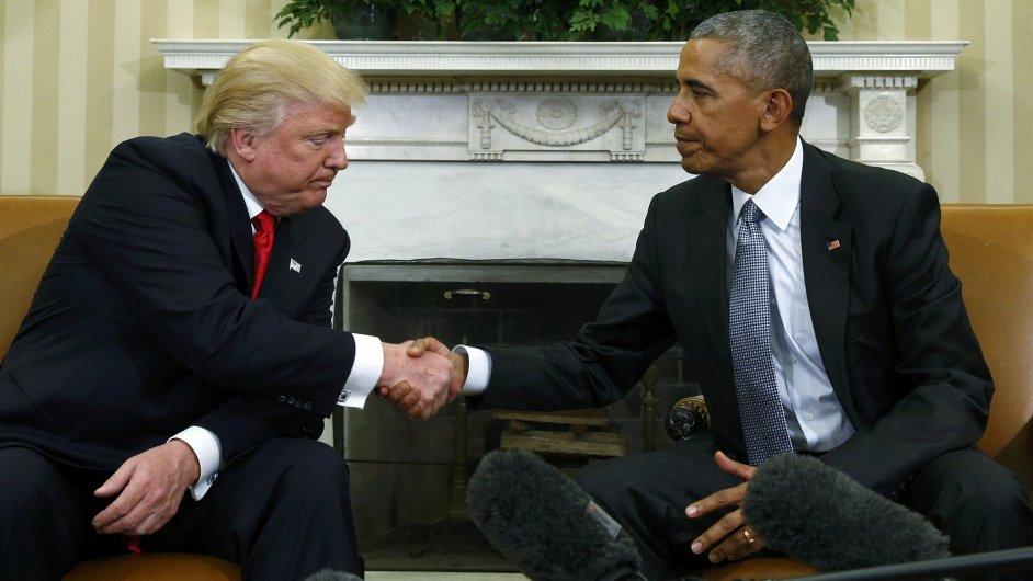 Donald Trump a Barack Obama.