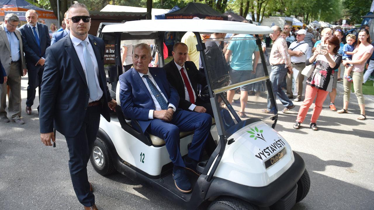 Prezident Miloš Zeman na mezinárodním agrosalonu Země živitelka 2017.
