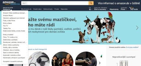 E-shop přeložil svůj web. Zákazníci Amazonu mohou nakupovat v češtině