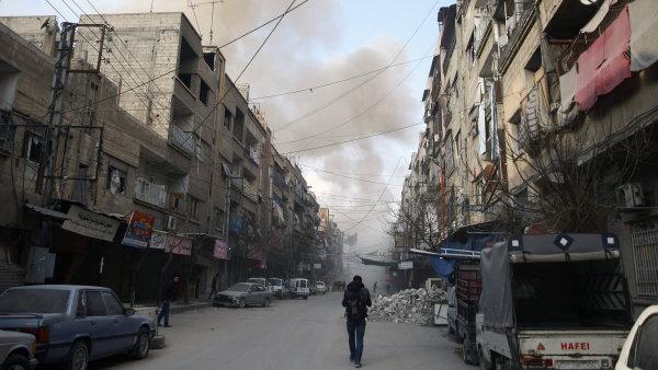 Boje v syrské Ghútě.