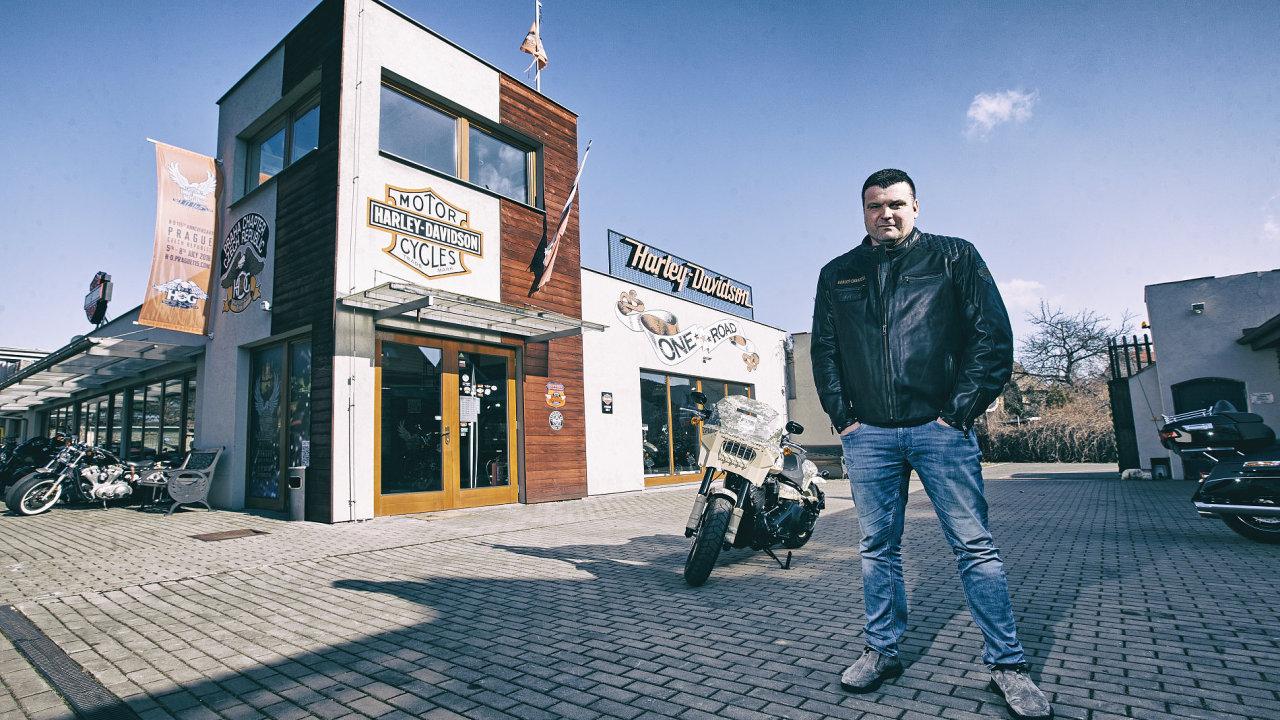 Vrcholový manažer Harleye-Davidson Martin Heřmanský.