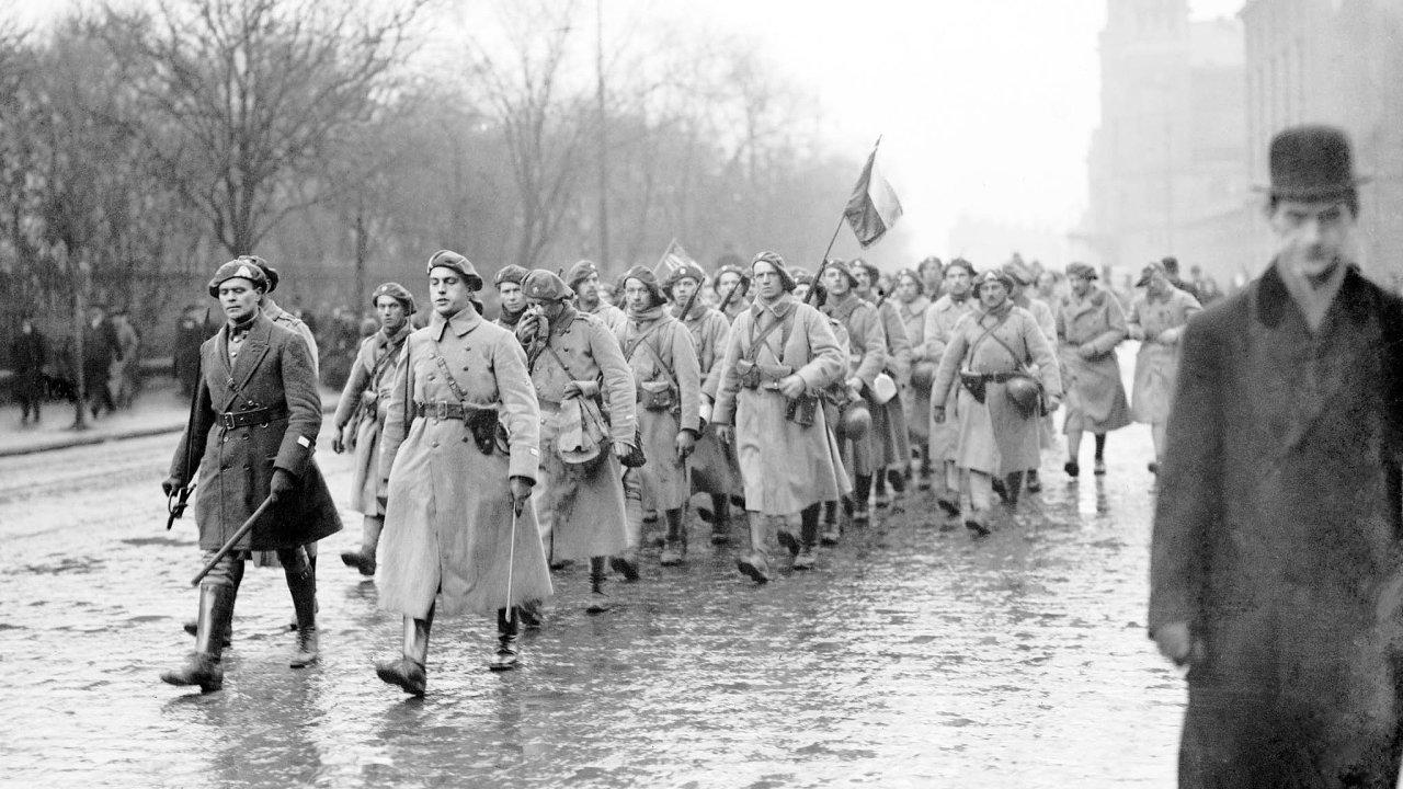 Vlednu 1919 se další vojáci vraceli už donové vlasti.