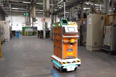 Mobilní roboti MiR pomáhají ve FORD Motor optimalizovat interní logistiku