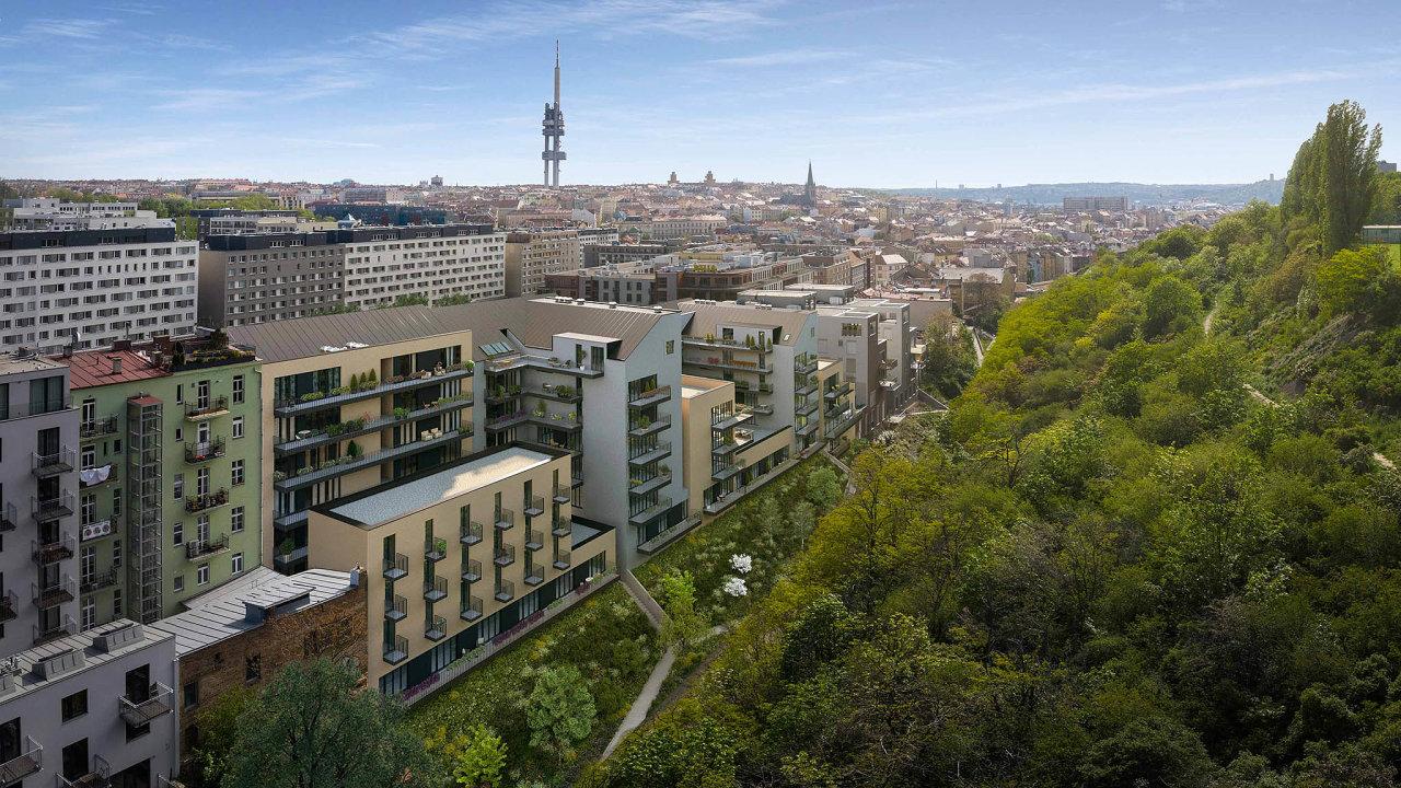Rezidenční projekt Žižkovské pavlače developera Moravská stavební– Invest má být hotový na podzim roku 2021.