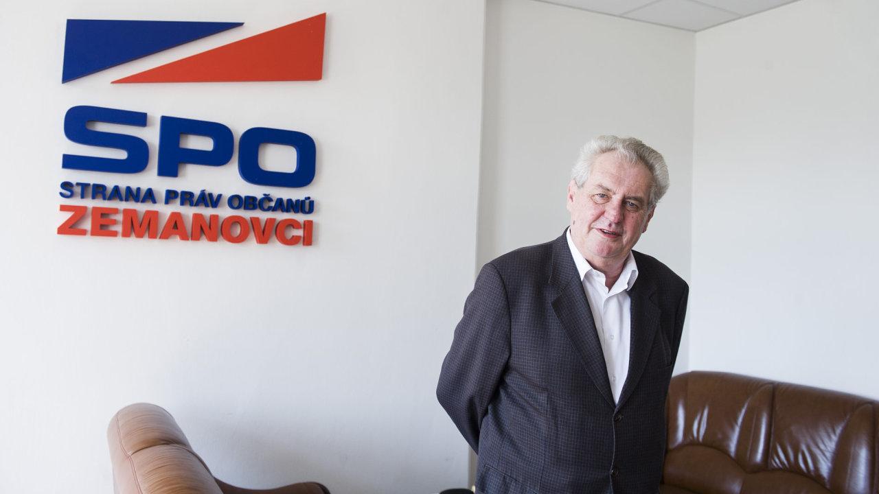 Miloš Zeman, SPO