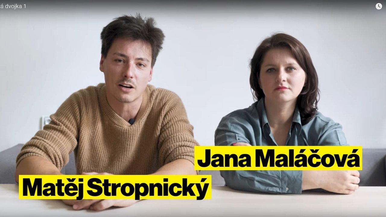 Hustá dvojka: Matěj Stropnický a Jana Maláčová