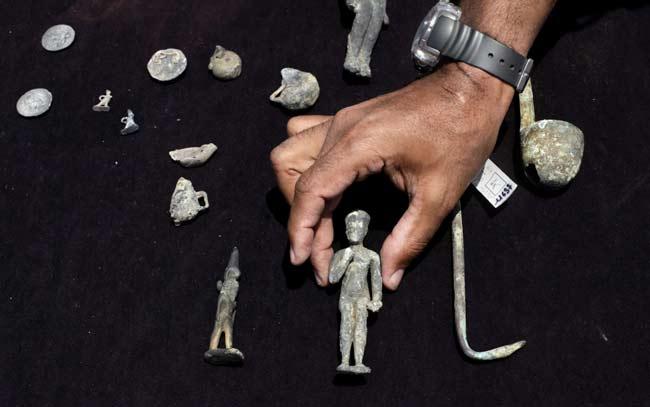 objevy trosek paláce a chrámu královny Kleopatry u Alexandrie