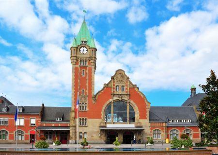 Půvabné nádraží ve východofrancouzském Colmaru