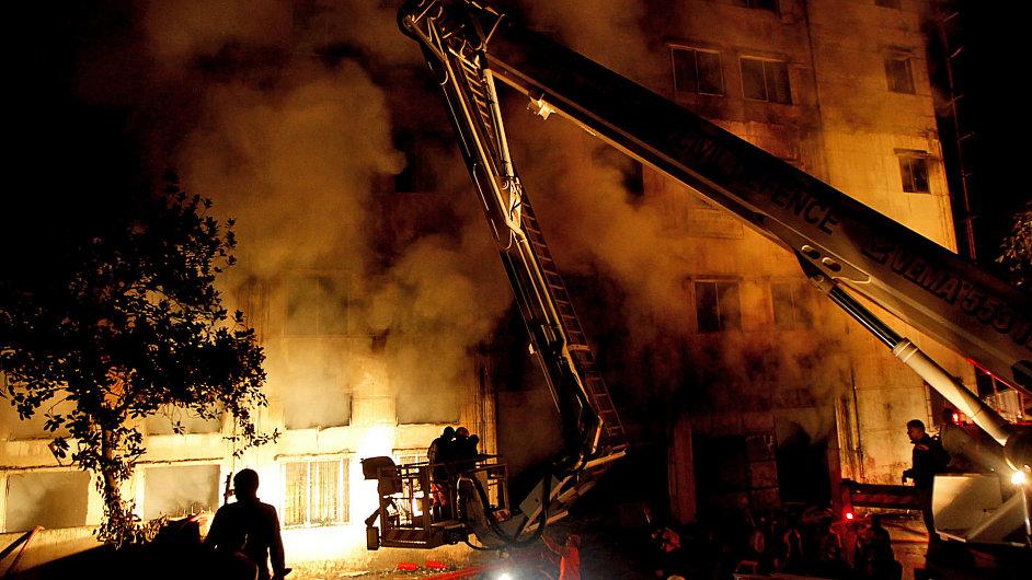 Požár bangladéšské textilky
