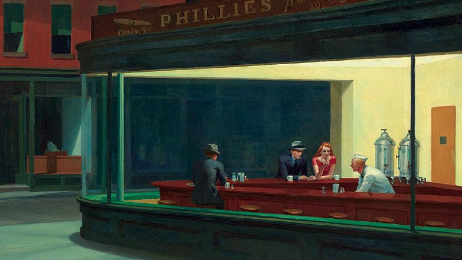 Hoppera nejvíc proslavil často citovaný či parodovaný obraz Nighthawks