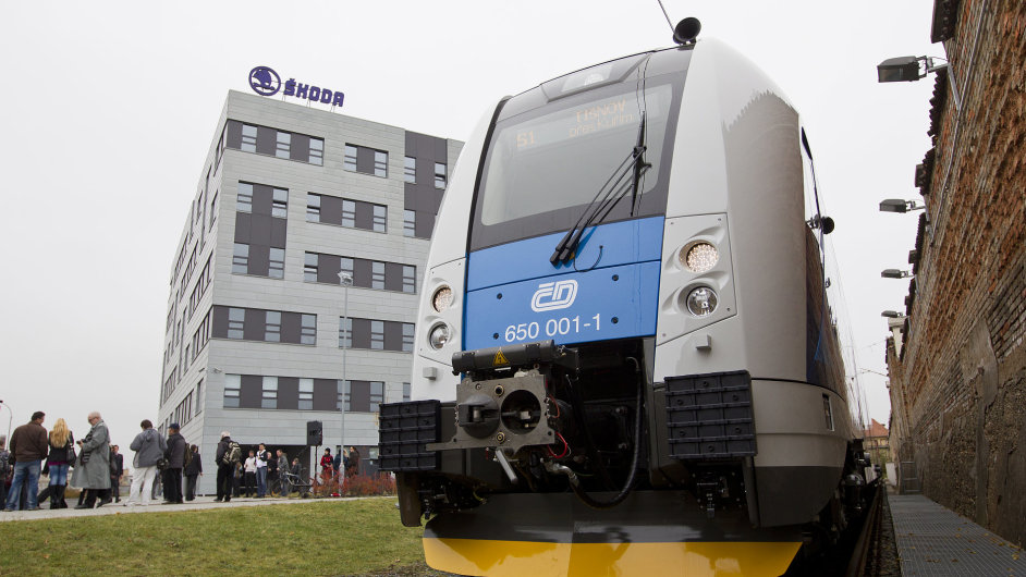 Regiopanter - nová jednotka, kterou Škoda dodává Českým drahám.